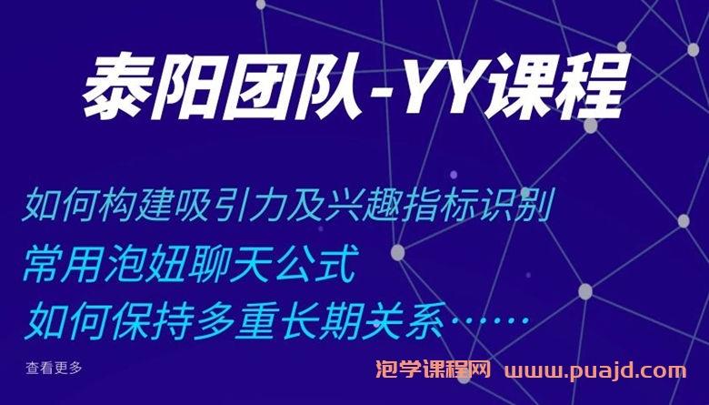 泰阳团队YY课程