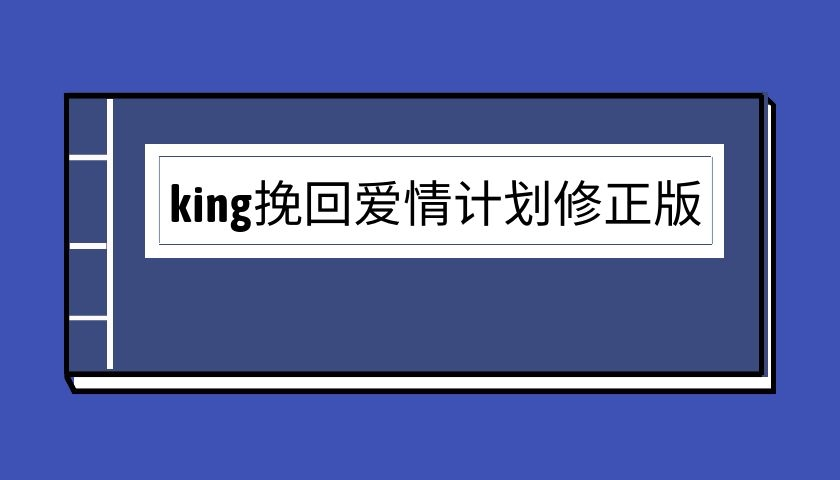 king挽回爱情计划修正版(泡学电子书)